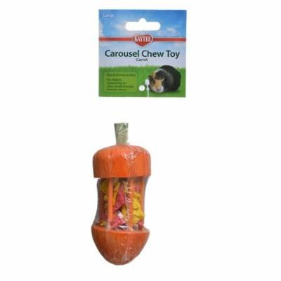 """Kaytee Carousel Chew Toy - Carrot Carrot Chew Toy - (1.75"""" Diameter x 4.75"""" High) - Pack of 6"""