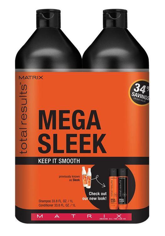 Matrix Mega Sleek Shampoo & Conditioner Liter Duo