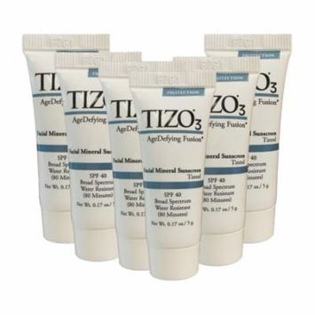 Tizo 3 Age Defying Fusion 0.2-ounce Facial Mineral Sunscreen Tinted SPF 40 (Pack of 6)