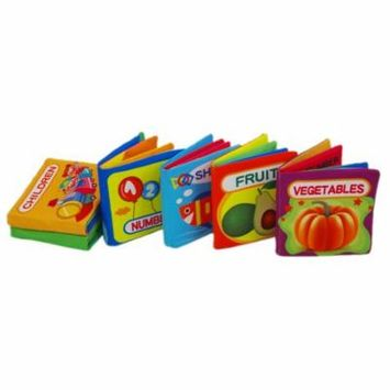 6Pcs Baby's First Cloth Books Little Kids Books Set Washable Educational Baby Toys