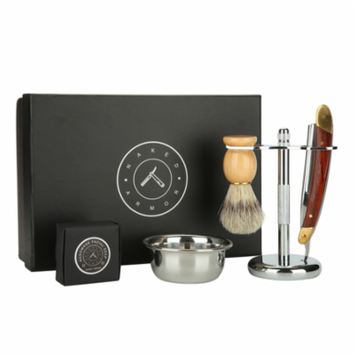 Silverback Straight Razor Stand Kit, Shave Soap + Bowl Included {For Straight Razor} -