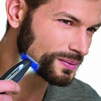 Micro Beard Touch Shaver and Trimmer HUBEE Men's Painless Hair Remover Rechargeable Razor (USB)