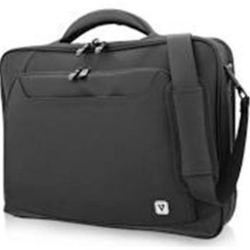 V7 CCPX1-BLK-9N 13-15.6 in. Elite Frontload Notebook Briefcase with Trolleystrap