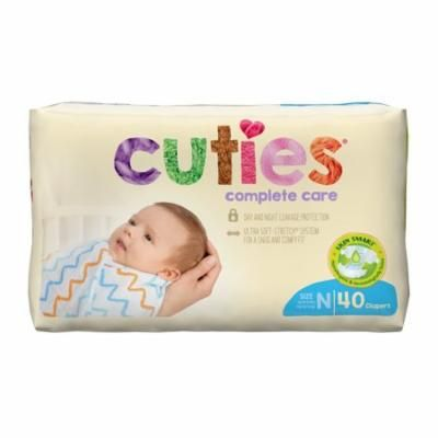 Cuties Complete Care Baby Diapers, Newborn, 40 Count