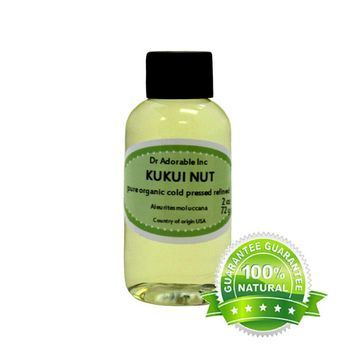 Dr. Adorable - 100% Pure Kukui Nut Oil Organic Cold Pressed Natural Hair Skin - 2 oz