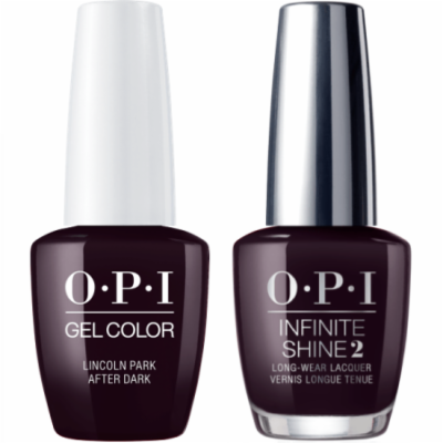 OPI GELCOLOR LINCOLN PARK AFTER DARK #W42 + INFINITE SHINE #W42
