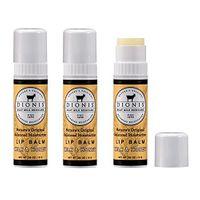Dionis Goat Milk Lip Balm 3 Piece Gift Set (Milk & Honey, 3 Piece)