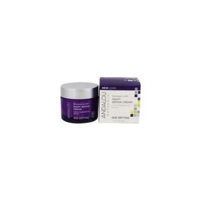 Age Defying Night Repair Cream with Resveratrol Q10 - 1.7 oz. by Andalou Naturals (pack of 4)