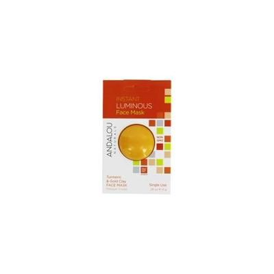 Instant Luminous Clay Face Mask Turmeric & Gold Clay - 0.28 oz. by Andalou Naturals (pack of 1)