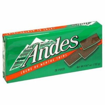 Andes Creme De Menthe Mints Christmas Season's Greeting Candy, Pack of 3, 4.67 oz