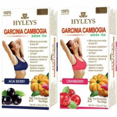 Hyleys Acai Garcinia Cambogia Green Tea and Cranberry Garcinia Cambogia Green Tea Duo, 25 teabags each