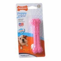 """Nylabone Puppy Chew Dental Bone Chew Toy - Pink 3.75"""" Chew - (For Puppies up to 15 lbs) - Pack of 6"""