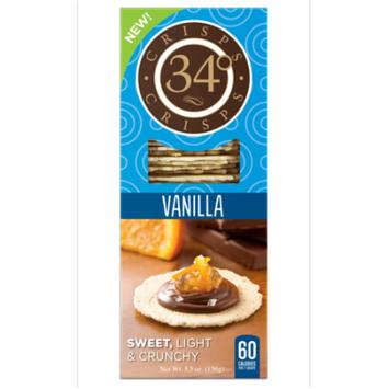 34 Degrees Vanilla Sweet Crisp Crackers, 5.5oz