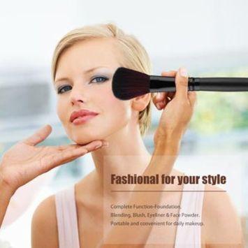 24Pcs Cosmetic Brush Foundation Powder Eyeshadow Brushes Set with Puff