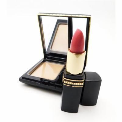 Elizabeth Arden Flawless Finish Pressed Powder Light 2 .25 Oz. / Exceptional Lipstick Fiesta 30 .14 Oz.