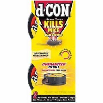 2pc d-CON No View No Touch Mouse Trap Conceals Dead Rodent 2PK