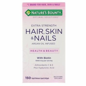 Nature's Bounty, Optimal Solutions, Extra Strength Hair, Skin & Nails, 150 Rapid Release Liquid Softgels(pack of 1)