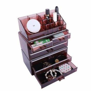 Ktaxon Makeup Organizer Nail Box Acrylic Cosmetic Luxury Jewelry Lipstick Case Drawer