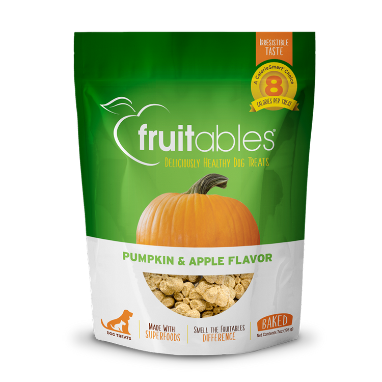 Fruitables Dog Treats Pumpkin & Apple Flavor, 7 oz