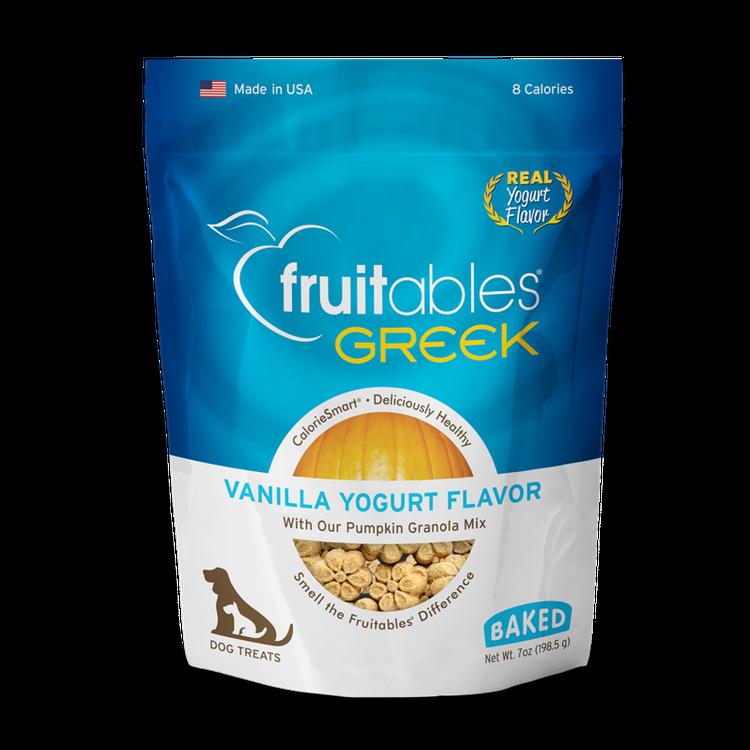 Fruitables Greek Vanilla Yogurt Dog Treats, 7 oz