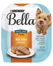 Bella Paté Wet Small Dog Food With Turkey In Savory Juices