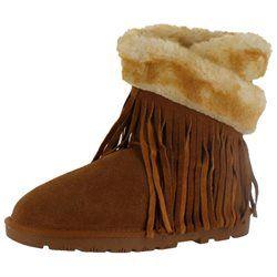 LAMO Women's 8-in. Fringe Wrap Boots, Girl's, Size: 9, Brown
