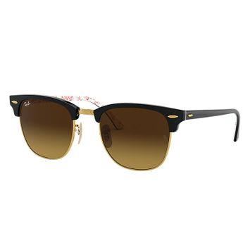 Ray-Ban Clubmaster @collection Black, Brown Lenses - RB3016