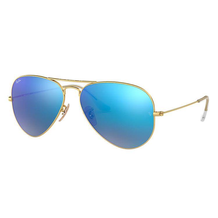 Ray-Ban Aviator Flash Lenses Gold, Blue Lenses - RB3025