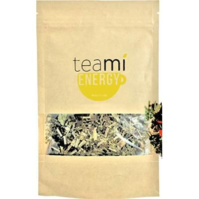 PREMIUM HERBAL GREEN ENERGY Tea with Caffeine - Loose Leaf Blend by TeaMi Blends - Best for Increased Mental Alertness - with 100% All-Natural Yerba Mate, Oolong, Lemongrass, Ginseng, & Goji Berries