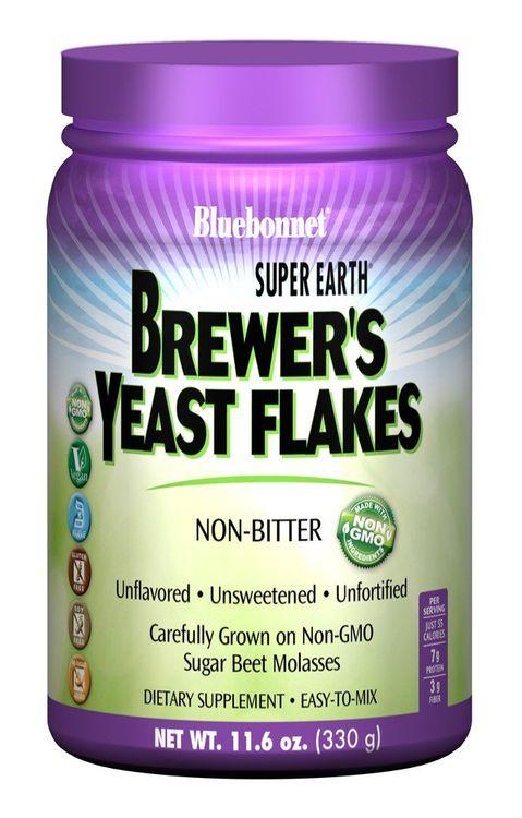Source Naturals Super Earth Brewer's Yeast Flakes Bluebonnet 11.6 oz Powder