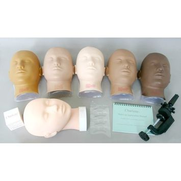 Charlene Erasable Make-up Mannequin Mask Kit - Light Skin Tone, Closed Eyes Masks