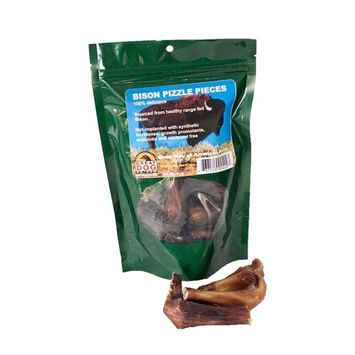 Great Dog Bison Pizzle Pieces (Bully Sticks) - 7 oz Bag (Sourced & Made in USA)