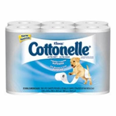 WP000-12456 12456 Cottonelle Soft Bath Tissue 1 Ply 12 Per Bag From Kimberly Clark Professional -# 12456