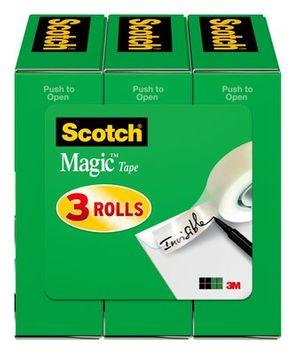Scotch® Magic™ Tape 810K3, 3/4 in x 1000 in 3 Pack