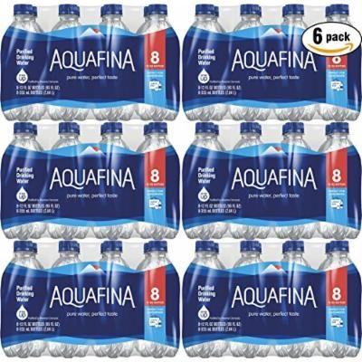 Aquafina Water, 12oz Bottle (Pack of 6, Total of 48 Bottles)
