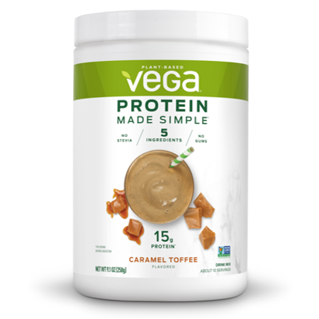 CARAMEL TOFFEE FLAVORED PLANT-BASED PROTEIN DRINK MIX, CARAMEL TOFFEE