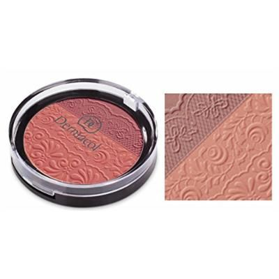 Dermacol DUO BLUSHER - Two shade Powder Blusher in Combination of Matte Appearance and Brightening Shades (No.2)