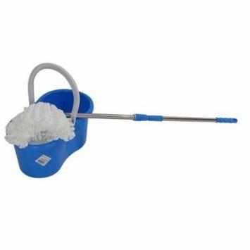 Zimtown Magic Spin Floor Mop Easy Press Mop Bucket Set - 360° Rotation Push & Pull - Liquid Drain Hole