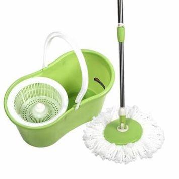 Zimtown Microfiber Magic Mop with Bucket 2 Heads Rotating 360°Easy Floor Mop 4 Colour