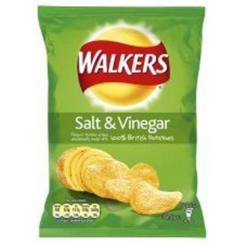 Walkers Salt And Vinegar Crisps 34.5G x 4