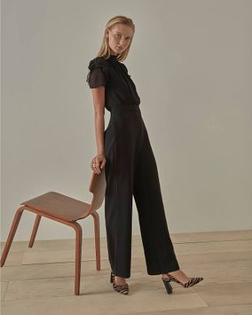 Vince Camuto Puff-Sleeve Jumpsuit
