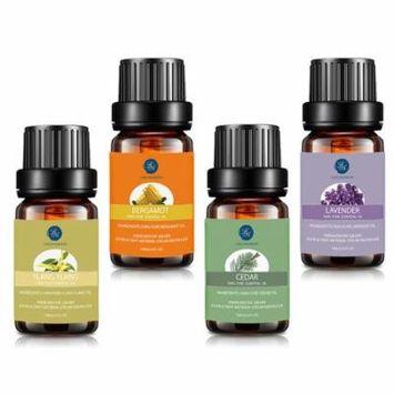 Essential Oil Set for Sleeping, Premium Therapeutic Aromatherapy Oils Top 4 Kit Lavender Ylang ylang Bergamot Cedar