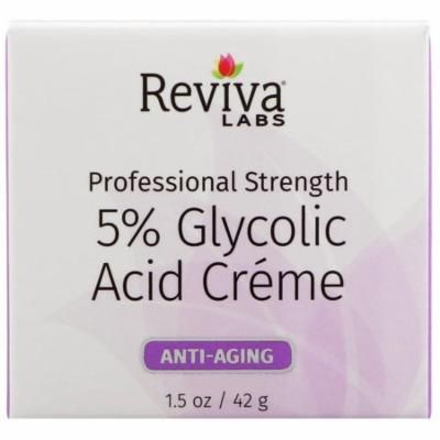 Reviva Labs, 5% Glycolic Acid Cream, Anti Aging, 1.5 oz(pack of 2)