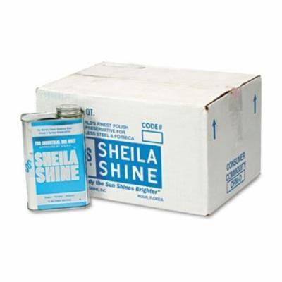 Sheila Shine Stainless Steel Cleaner & Polish, 1 Quart Can, 12/Carton