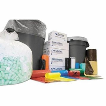 Integrated Bagging Systems IBS Clear Flat-Bottom Trash Bags, 60 Gallon, 12 Micron, 43