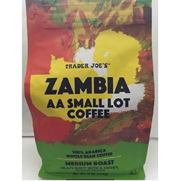 Trader Joe's ZAMBIA AA Small Lot Coffee Medium Roast Whole Bean 12 oz.