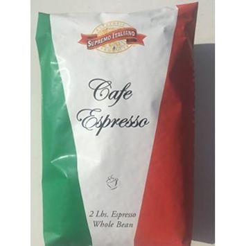 Supremo Italiano Cafe Expresso Whole Bean Coffee Cafe Gourmet Coffee Classic Italian Espresso 2 Lb