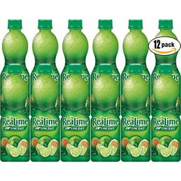ReaLime 100% Lime Juice, 15oz Bottle (Pack of 12, Total of 180 Oz)