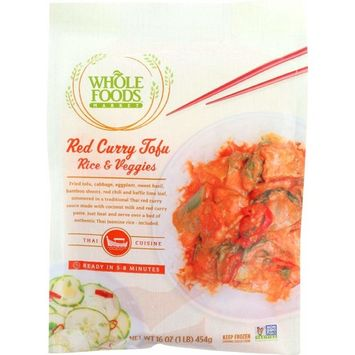 Whole Foods Market, Red Curry Tofu Rice & Veggies, 16 oz, (Frozen)