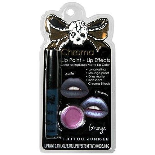 Tattoo Junkee Lip Color + Chroma Effects Long Lasting Matte Liquid Lipstick, Grudge, Purple shade [Grudge]